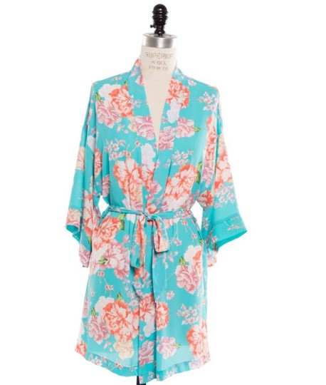 Preload https://img-static.tradesy.com/item/25599790/coveted-clothing-turquoise-flowered-robe-0-0-540-540.jpg