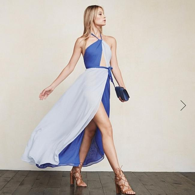 country blue Maxi Dress by Reformation Image 1