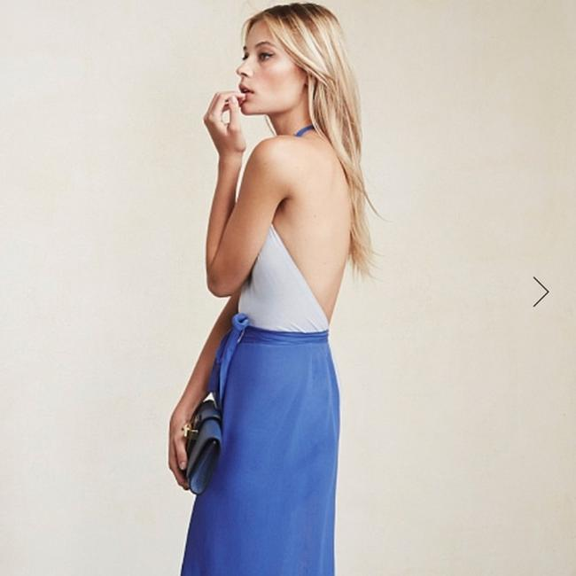 country blue Maxi Dress by Reformation Image 4