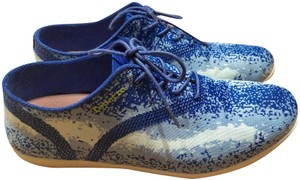 Repetto Oxford Tech-knit Barneys Blue and white Athletic