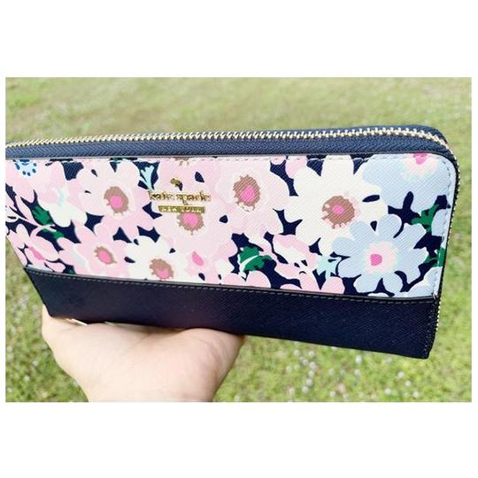 Kate Spade Kate Spade Cameron Street Lacey Large Zip Around Wallet Floral Multi Image 1