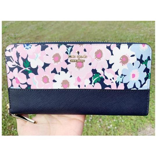 Kate Spade Kate Spade Cameron Street Lacey Large Zip Around Wallet Floral Multi Image 6