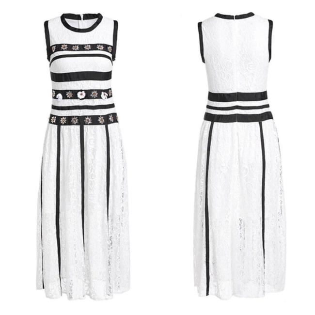 Preload https://img-static.tradesy.com/item/25599956/white-and-black-the-hildee-embellished-mid-length-short-casual-dress-size-8-m-0-1-650-650.jpg