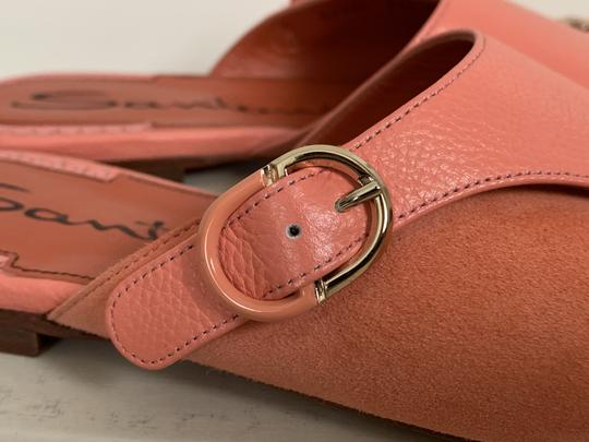 Santoni Leather Suede Open Toe Buckle Pink Sandals Image 8