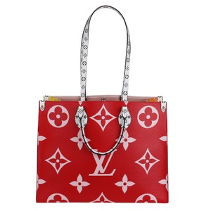 Louis Vuitton Onthego Giant Monogram Giant Collection On The Go Onthego Satchel in Rouge