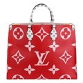 Louis Vuitton Onthego Giant Monogram Giant Collection On The Go Onthego Satchel in Rouge Image 1