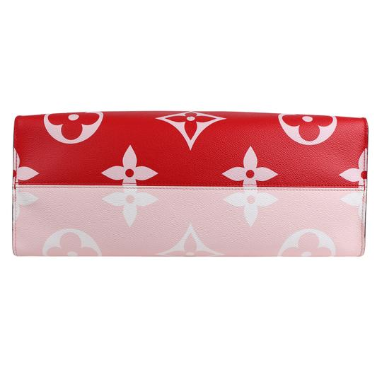 Louis Vuitton Onthego Giant Monogram Giant Collection On The Go Onthego Satchel in Rouge Image 4