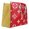 Louis Vuitton Onthego Giant Monogram Giant Collection On The Go Onthego Satchel in Rouge Image 5