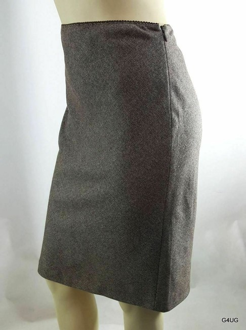 J.Crew Skirt Brown and White Image 2