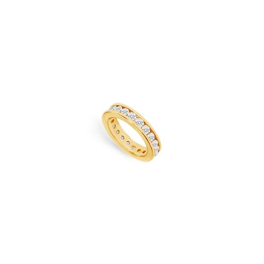 Preload https://img-static.tradesy.com/item/25600063/white-two-carat-cubic-zirconia-eternity-in-14k-yellow-gold-second-and-t-ring-0-0-540-540.jpg