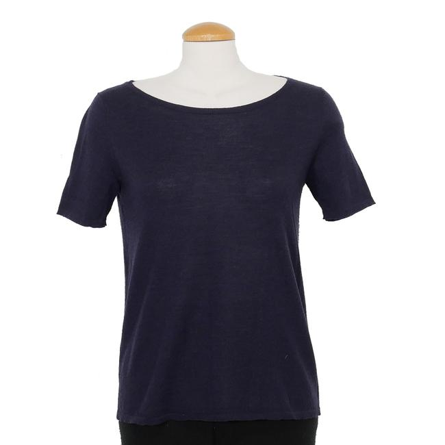 Preload https://img-static.tradesy.com/item/25600125/eileen-fisher-jersey-xs-fine-merino-wool-knit-midnight-blue-sweater-0-0-650-650.jpg