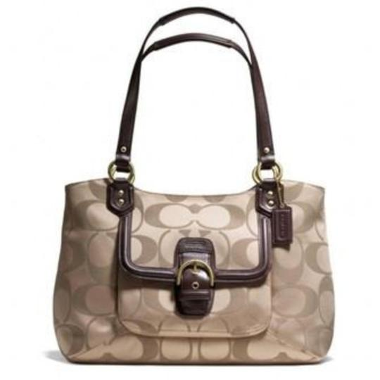 Coach Tote in Tan Brown Image 1