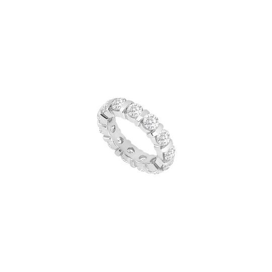 Preload https://img-static.tradesy.com/item/25600183/white-two-carat-cubic-zirconia-eternity-band-in-14k-gold-second-ring-0-0-540-540.jpg