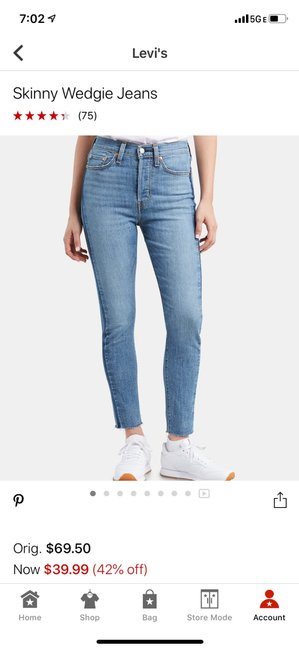 Preload https://item3.tradesy.com/images/levi-s-light-blue-wash-wedgie-skinny-jeans-size-8-m-29-30-25600202-0-4.jpg?width=400&height=650