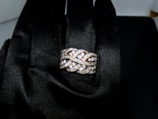 Affinity NEW Affinity Braided Natural Diamond Ring 3/4 cttw Size 7.25 Image 2