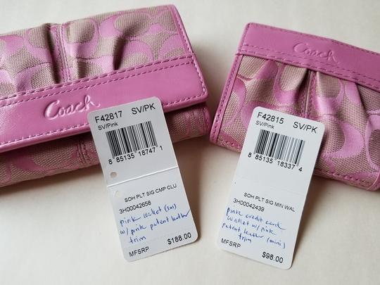 Coach Wallet New Pink Clutch Image 4