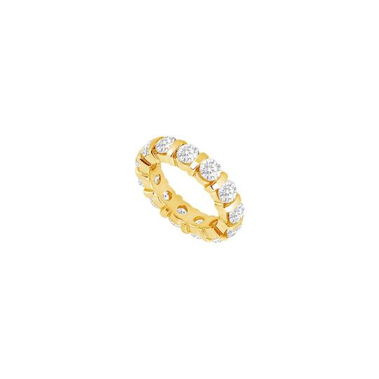 Marco B One Carat Cubic Zirconia Eternity Band in 14K Yellow Gold First and Se Image 0