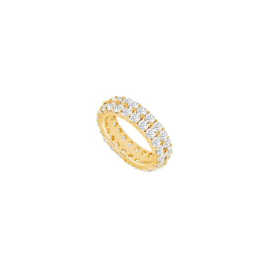 Preload https://img-static.tradesy.com/item/25600276/white-two-carat-cubic-zirconia-eternity-band-in-14k-yellow-gold-first-ring-0-0-540-540.jpg