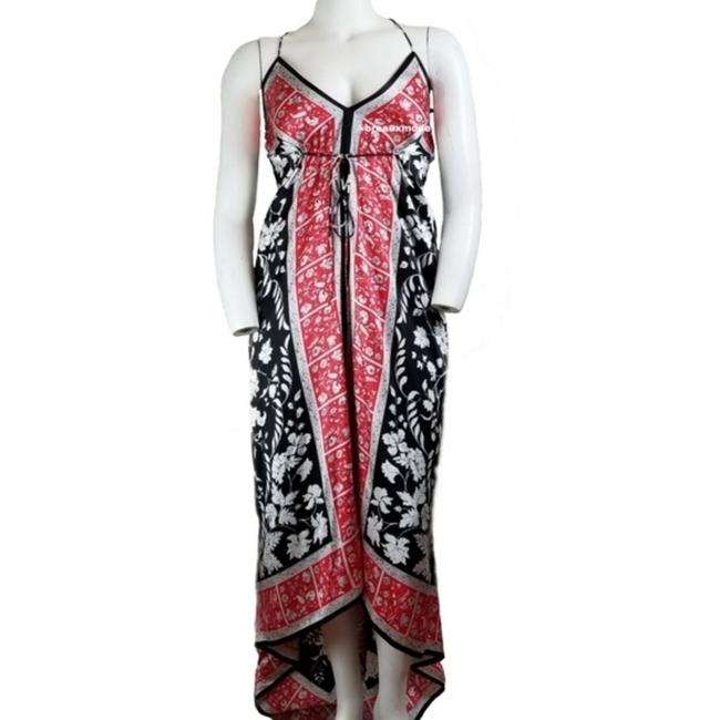 Red Black Maxi Dress by JS Collections Maxi Long Silk Image 1