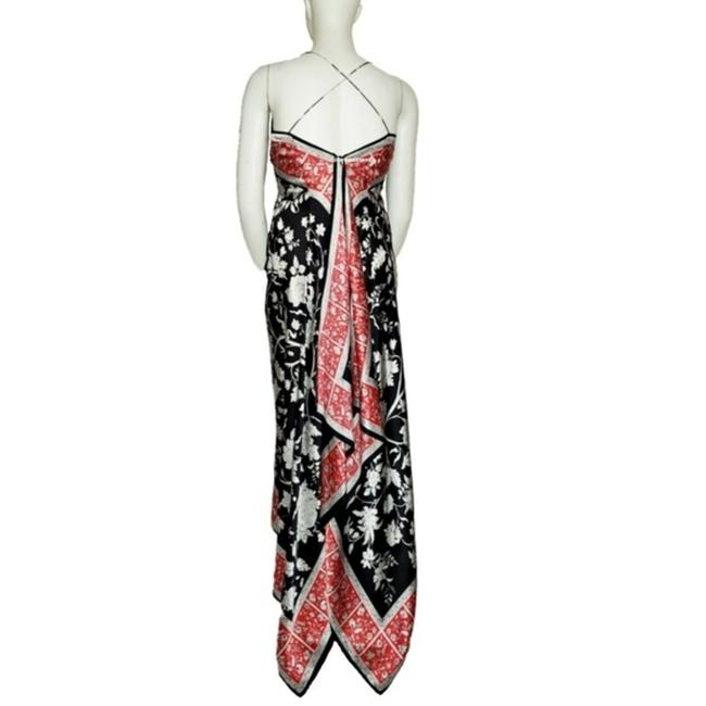 Red Black Maxi Dress by JS Collections Maxi Long Silk Image 2