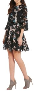 Vince Camuto Chiffon Bell Sleeve Floral Dress