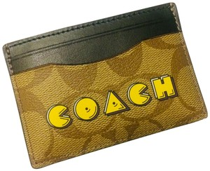 Coach Signature Coated Canvas card case - Pacman New authentic No offer ⛔️ bundle to save Signature Coated Canvas