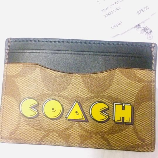 Coach Signature Coated Canvas card case - Pacman New authentic No offer  bundle to save Signature Coated Canvas