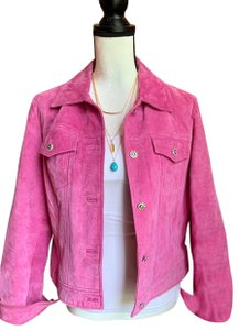 Yvonne Le Marie Pink Leather Jacket