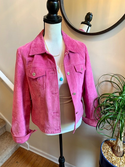 Yvonne Le Marie Pink Leather Jacket Image 1