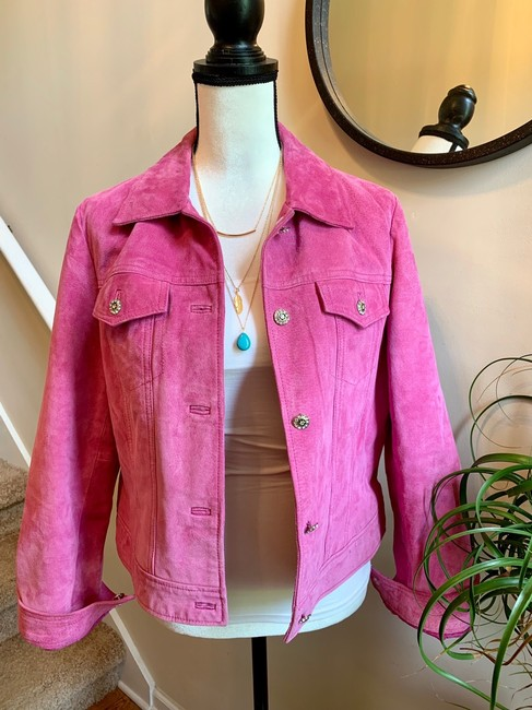 Yvonne Le Marie Pink Leather Jacket Image 2