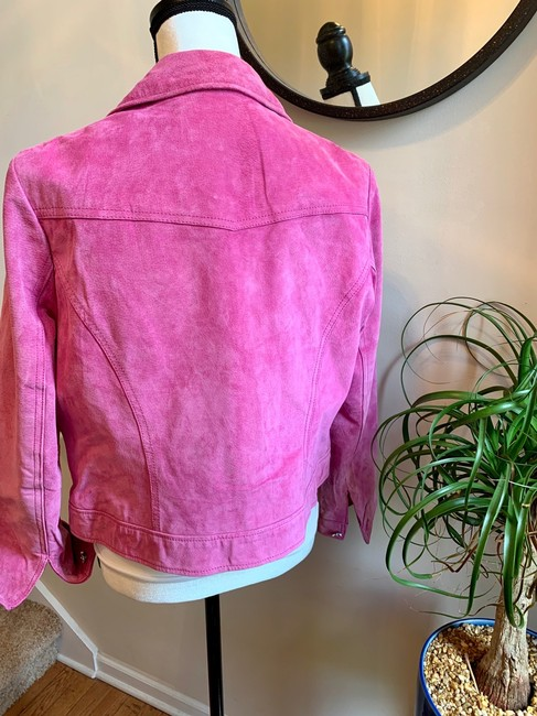 Yvonne Le Marie Pink Leather Jacket Image 4