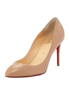 Christian Louboutin Heels Suede Eloise Nude Pumps