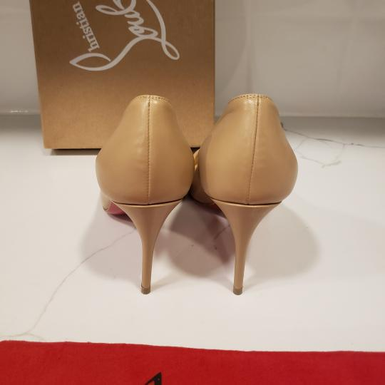 Christian Louboutin Heels Suede Eloise Nude Pumps Image 1