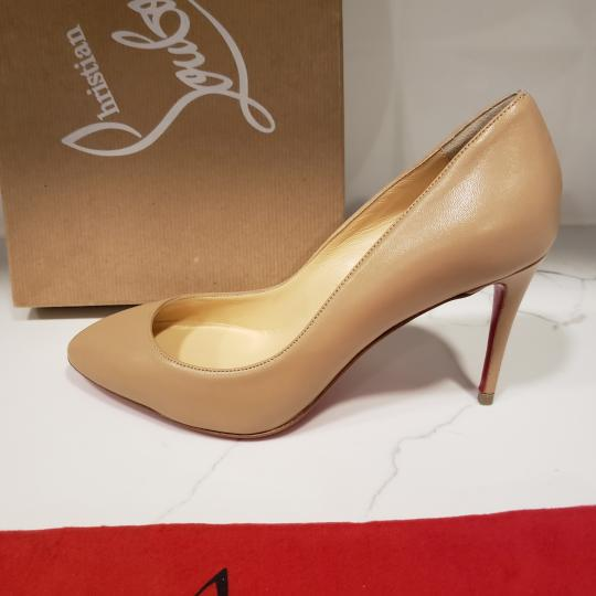 Christian Louboutin Heels Suede Eloise Nude Pumps Image 2