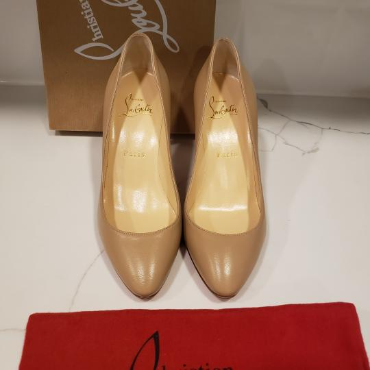 Christian Louboutin Heels Suede Eloise Nude Pumps Image 3