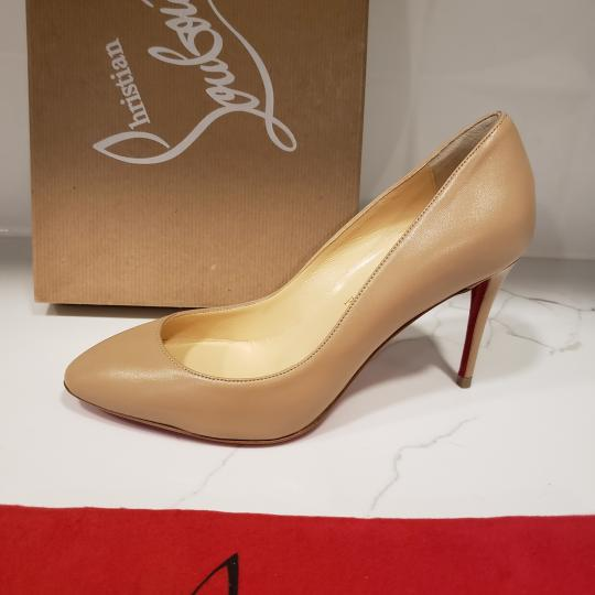 Christian Louboutin Heels Suede Eloise Nude Pumps Image 4