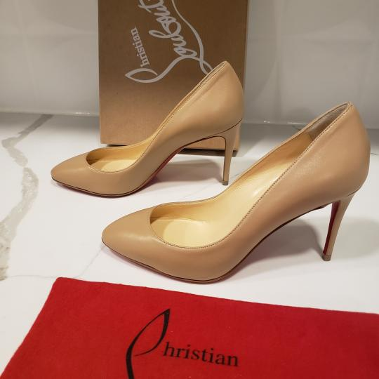 Christian Louboutin Heels Suede Eloise Nude Pumps Image 5