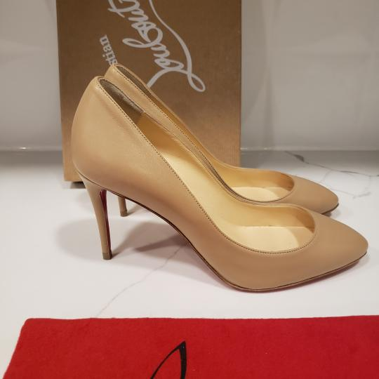 Christian Louboutin Heels Suede Eloise Nude Pumps Image 6
