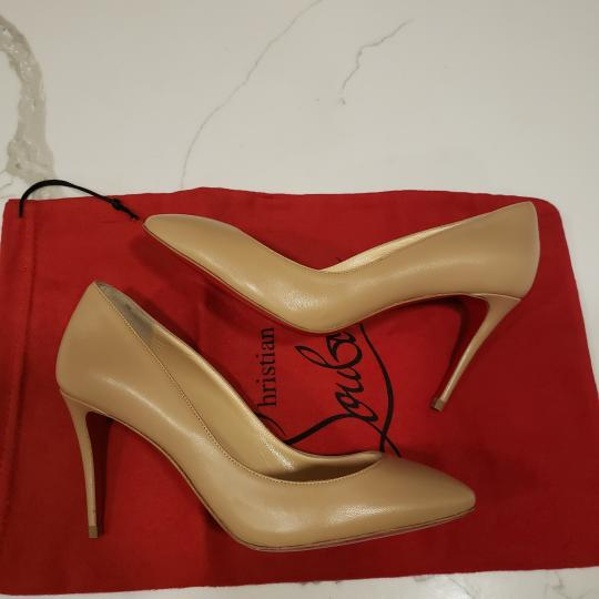 Christian Louboutin Heels Suede Eloise Nude Pumps Image 7