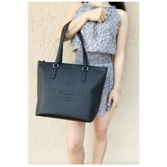 Kate Spade Womens Leather Tote in Black Image 1