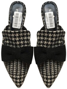 Kate Spade black and white Mules