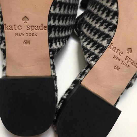 Kate Spade black and white Mules Image 4