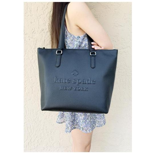 Kate Spade Womens Leather Tote in Black Image 2