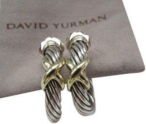 David Yurman X Collection SS/14k Open Hoop Earrings