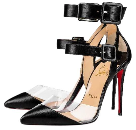 Preload https://img-static.tradesy.com/item/25600476/christian-louboutin-black-multimiss-100-pvc-leather-ankle-strap-buckle-pumps-heels-sandals-size-eu-3-0-1-540-540.jpg