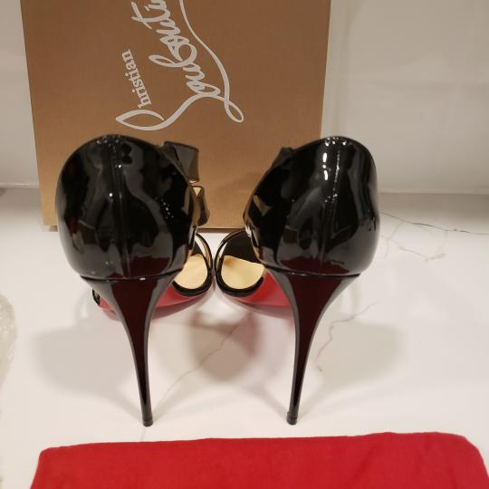 Christian Louboutin Asymmetric Open Toe Strappy Black Sandals Image 4