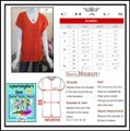 Chaus Crystals At Front V-neck Cap Sleeves Straight Hem Relaxed Silhouette Top Manderin Image 11