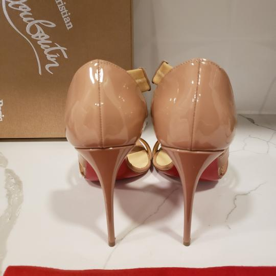 Christian Louboutin Asymmetric Open Toe Strappy Nude Sandals Image 6