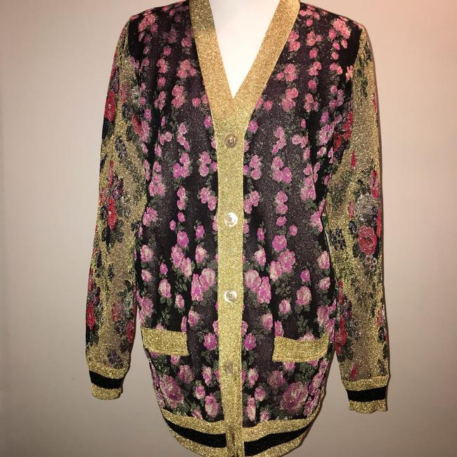Gucci Reversible Floral Butterfly Silk Cardigan Image 1