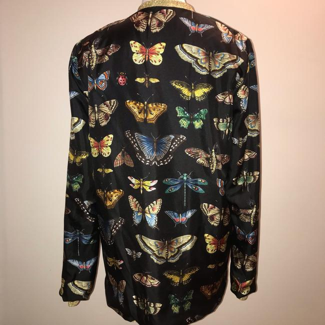 Gucci Reversible Floral Butterfly Silk Cardigan Image 11